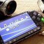 Svart Transparent Face Plate för PSP SLIM 2000 (liten bild)