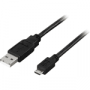 USB Kabel Typ A ha till MicroB Ha 1Meter (liten bild)