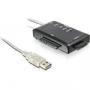 SATA till USB-adapter med olika kontakter, fungerar med LiteOn IHAS (liten bild)