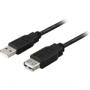 USB Förlängningskabel typ A hane till typ A hona (liten bild)