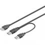 USB Strömkabel 2x typ A ha till 1x typ A ho (liten bild)