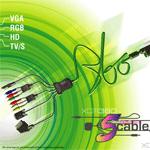 Multivideokabel för Xbox 360 (liten bild)