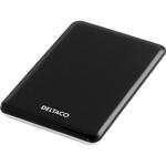 """Externt kabinett i färgerna svart och silver för 2,5"""" SATA-hårddisk, USB 2.0 (liten bild)"""