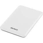 """Externt kabinett i färgerna vit och silver för 2,5"""" SATA-hårddisk, USB 2.0 (liten bild)"""