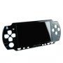 Svart Face Plate, Sony Originalskal för PSP 1000 (Phat) (liten bild)