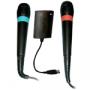 Två stycken originalmikrofoner till Singstar. (liten bild)